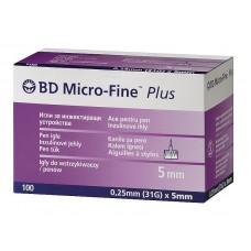 Иглы МикроФайн 0,25мм(31G)x5 мм (BD Micro-Fine)