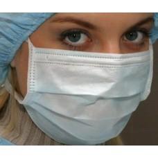 Маска хирургическая 3-х слойная для лица - 50 шт
