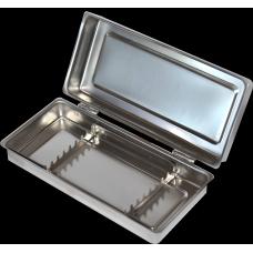 Лоток стоматологический ЛМСК на 8 инструментов с крышкой и ложементом
