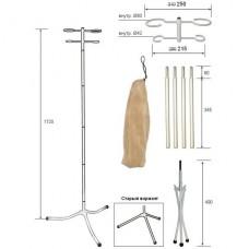 Стойка для капельницы М192-02 (разборная, белая, чехол-флок)