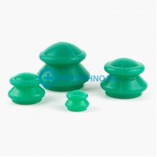 Антицеллюлитные массажные вакуумные банки силиконовые - 4 шт.