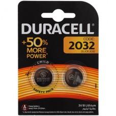 Элемент питания (батарейка) Duracell DL/CR 2032-2BL таблетка 1/2шт