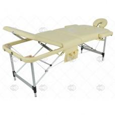 Массажный стол складной алюминиевый JFAL01A (3 секции)