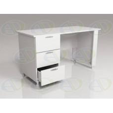 Стол для кабинета врача однотумбовый СМ-1.1 белый